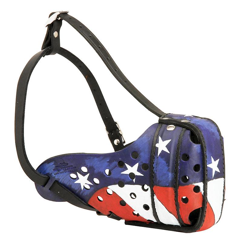 Museliere ferm e pour colley design drapeau am ricain m77ap - Boutique style americain ...